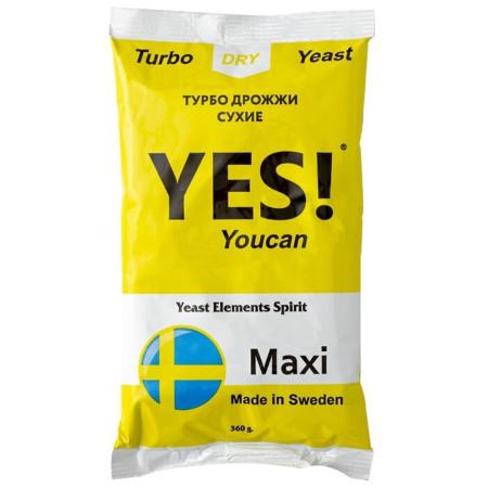 Дрожжи YES Maxi 360гр. (на 100 литров)